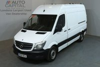 USED 2015 15 MERCEDES-BENZ SPRINTER 2.1 313 CDI MWB 5d 129 BHP H/ROOF RWD PANEL VAN ONE OWNER FULL S/H SPARE KEY
