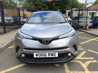 USED 2017 66 TOYOTA CHR 1.2 ICON 5d 114 BHP METALLIC SPACE GREY PAINT WORK, LOVELY CHARCOAL GREY CLOTH INTERIOR, CRUISE CONTROL, DAB RADIO, BLUETOOTH, LED DRIVING LIGHTS, AIR CONDITIONING, 1 OWNER, TOYOTA SERVICE HISTORY, LOW MILEAGE