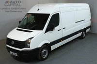 USED 2015 65 VOLKSWAGEN CRAFTER 2.0 CR35 TDI 135 BHP LWB HIGH ROOF  ONE OWNER, SERVICE HISTORY