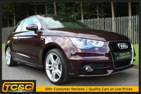 USED 2014 64 AUDI A1 1.2 TFSI S LINE 3d 84 BHP A STUNNING SHIRAZ RED A1 WHICH HAS HAD ONE OWNER, HAS AN AUDI DEALER HISTORY, DAB AND MORE!!!
