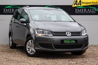 USED 2014 14 VOLKSWAGEN SHARAN 2.0 SE TDI 5d 142 BHP £0 DEPOSIT FINANCE AVAILABLE, 7 SEATS, AIR CONDITIONING, BLUEMOTION TECHNOLOGY, BLUETOOTH CONNECTIVITY, CLIMATE CONTROL, CRUISE CONTROL, DAB RADIO, PARKING SENSORS, START/STOP SYSTEM, STEERING WHEEL CONTROLS