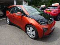 USED 2014 14 BMW I3 0.6 I3 LODGE eDrive RANGE EXTENDER (REX) 5d AUTOMATIC 168 BHP Very Low Mileage! BMW Service History + Just Serviced by BMW (tbc), One Owner, MOT until June 2019, Automatic, Superb fuel economy! ZERO Road Tax! Plug-In Hybrid Range Extender (REX), Manufacturer Stated average mpg over 470! FREE 12 months RAC Platinum Warranty (£1,000 Claim Limited / Unlimited Claims). FREE 3-Pin UK Charger Included AND Type 2 Charger included also