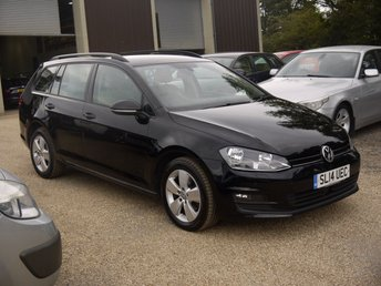 2014 VOLKSWAGEN GOLF 1.6 TDI SE Bluemotion Technology DSG Estate In Black With Alloys £7795.00