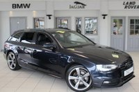 USED 2014 63 AUDI A4 AVANT 2.0 TDI S LINE BLACK EDITION 5d 174 BHP HALF BLACK LEATHER SEATS + FULL AUDI SERVICE HISTORY + XENON HEADLIGHTS + 19 INCH ALLOYS + HEATED FRONT SEATS + BANG & OLUFSEN SOPUND SYSTEM + ELECTRIC TAILGATE + PARKING SENSORS + DAB RADIO + CRUISE CONTROL