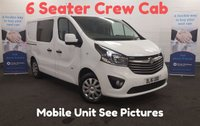 USED 2016 16 VAUXHALL VIVARO 1.6 2900 CDTI Sportive  Factory Fitted Crew Cab 6 Seats, Mobile Work Unit, Air Con, Bluetooth, Cruise Control *Over The Phone Low Rate Finance Available*   *UK Delivery Can Also Be Arranged*
