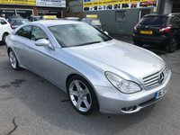 2007 MERCEDES-BENZ CLS CLASS 3.0 CLS320 CDI 4d AUTO 222 BHP IN METALLIC SILVER WITH 65000 MILES. £6699.00