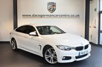 USED 2016 16 BMW 4 SERIES 2.0 420D M SPORT GRAN COUPE 4DR 188 BHP - WITH A SERVICE PACK + FULL BLACK LEATHER INTERIOR + FULL SERVICE HISTORY + PRO SAT NAV + HEATED SPORT SEATS + CRUISE CONTROL + DAB RADIO + XENON LIGHTS + PARK DISTANCE CONTROL + 19 INCH ALLOYS +