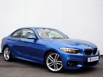 2016 BMW 2 SERIES 2.0 220D M SPORT 2d AUTO 188 BHP £18495.00
