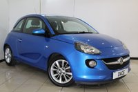 USED 2014 64 VAUXHALL ADAM 1.2 JAM 3DR 69 BHP SERVICE HISTORY + BLUETOOTH + CRUISE CONTROL + MULTI FUNCTION WHEEL + AIR CONDITIONING + RADIO/CD + 16 INCH ALLOY WHEELS