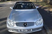 USED 2005 05 MERCEDES-BENZ CLK 1.8 CLK200 KOMPRESSOR ELEGANCE 2d AUTO 161 BHP SERVICE HISTORY, PARKING AID, CRUISE CONTROL, SPORTS LEATHER, ELECTRIC SOFT TOP