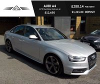 USED 2013 62 AUDI A4 2.0 TDI Black Edition Multitronic 4dr Genuine Audi Black Edition Spec!!