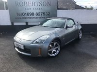 USED 2006 06 NISSAN 350 Z 3.5 GT V6 ROADSTER 2dr NICE EXAMPLE WITH EXTRAS FINISHED IN GUNMETAL GREY WITH BLACK LEATHER AND BOASTING 18in 6 SPOKE GT ALLOYS, EXTRAS INCLUDE STAINLESS STEEL EXHAUST, REVERSE CAMERA, UPGRADED RADIO, REAR SPOILER AND ALL NISSAN BADGES REPLACED WITH NEW Z BADGES, NICE CA