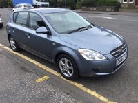 USED 2008 08 KIA CEED 1.6 SR 5d 121 BHP OUR  PRICE INCLUDES A 6 MONTH AA WARRANTY DEALER CARE EXTENDED GUARANTEE, 1 YEARS MOT AND A OIL & FILTERS SERVICE. 6 MONTHS FREE BREAKDOWN COVER.    CALL US NOW FOR MORE INFORMATION OR TO BOOK A TEST DRIVE ON 01315387070 !!