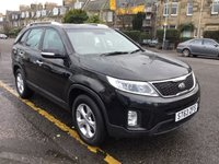 USED 2013 63 KIA SORENTO 2.2 CRDI KX-1 5d 194 BHP OUR  PRICE INCLUDES A 6 MONTH AA WARRANTY DEALER CARE EXTENDED GUARANTEE, 1 YEARS MOT AND A OIL & FILTERS SERVICE. 6 MONTHS FREE BREAKDOWN COVER.    CALL US NOW FOR MORE INFORMATION OR TO BOOK A TEST DRIVE ON 01315387070 !! LIKE AND SHARE OUR FACEBOOK PAGE.