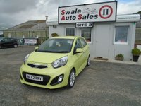 USED 2012 62 KIA PICANTO 1.2 3 5d 84 BHP £24 PER WEEK, NO DEPOSIT - SEE FINANCE LINK