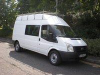 2009 FORD TRANSIT 2.4 350 H/R DCB 1d 100 BHP EX MOD CREW VAN 6 SEATS £SOLD