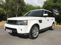 USED 2010 60 LAND ROVER RANGE ROVER SPORT 3.0 TDV6 SE 5d AUTO 245 BHP RANGE ROVER SPORT IN WHITE WITH FSH
