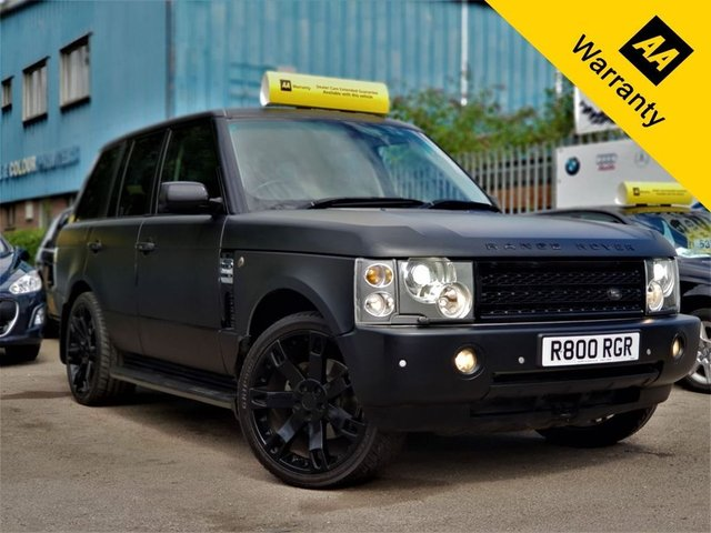 2004 LAND ROVER RANGE ROVER 2.9 TD6 VOGUE 5d 175 BHP! p/x welcome! AUTO! MAT BLACK WRAPPED! SAT NAV! TV! XENON! FULL HEATED LEATHER(F+R)! ELECTRIC SUNROOF! ELECTRIC MEMORY SEATS! 22inch ALLOYS! SENSOR(F+R)! HEATED STEERING! CRUISE & CLIMATE CONTROL! FINANCE AVAILABLE! BROWSE ME! NEW MOT & SERVICE!