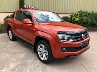 USED 2014 07 VOLKSWAGEN AMAROK 2.0 DC TDI CANYON 4MOTION 1d AUTO 180 BHP NO VAT, SAT NAV, ROLLER SHUTTER, ROLL BAR, LEATHER, EXTREMELY CLEAN