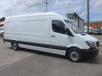 USED 2015 15 MERCEDES-BENZ SPRINTER 313 CDI LWB HI ROOF, 130 BHP [EURO 5], 1 COMPANY OWNER