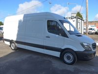 USED 2016 16 MERCEDES-BENZ SPRINTER 313 CDI LWB HI ROOF, 130 BHP [EURO 5], 1 COMPANY OWNER