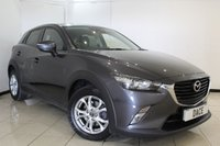 USED 2015 65 MAZDA CX-3 1.5 D SE-L NAV 5DR 104 BHP HEATED SEATS + SAT NAVIGATION + PARKING SNESOR + BLUETOOTH + CRUISE CONTROL + MULTI FUNCTION WHEEL + CLIMATE CONTROL + 16 INCH ALLOY WHEELS