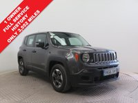 USED 2016 66 JEEP RENEGADE 1.6 M-JET SPORT 5d 118 BHP ***1 Owner, Only 3,552 miles, Huge saving over new car list price, Full Service History, Jeep warranty until 30th September 2019, MOT until 30th September 2019, £30 Road Fund Licence. Nationwide Delivery Available. Finance Available at 9.9% APR Representative.***