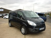 2014 FORD TRANSIT CUSTOM 2.2TDCi T290 LIMITED L1 H1 PANEL VAN 125 BHP with aircon bluetooth cruise control and more  £9995.00