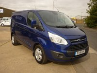 2016 FORD TRANSIT CUSTOM 2.0 290 LIMITED L1 H1  Panel Van  170 BHP with Sat Nav Rear Camera aircon bluetooth cruise control and more  £13995.00