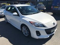 2013 MAZDA 3 1.6 TAMURA D 5 DOOR 113 BHP IN SOLID WHITE WITH 70000 MILES AND A FULL SERVICE HISTORY. £5499.00