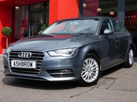USED 2015 15 AUDI A3 SPORTBACK 2.0 TDI SE TECHNIK 5d 150 S/S SAT NAV, REAR ACOUSTIC PARKING SENSORS, CRUISE CONTROL, DAB DIGITAL RADIO, BLUETOOTH PHONE & MUSIC STREAMING, AUDI MUSIC INTERFACE FOR IPOD/USB DEVICES (AMI), 16 INCH MULTI SPOKE ALLOYS, GREY CLOTH INTERIOR, LEATHER MULTIFUNCTION STEERING WHEEL, AIR CONDITIONING, CD HIFI WITH 2x SD CARD READERS, 1 OWNER FROM NEW, FULL SERVICE HISTORY, £20 ROAD TAX (106 G/KM)