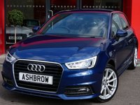 USED 2015 15 AUDI A1 SPORTBACK 1.6 TDI S LINE 5d 115 S/S LED XENON LIGHTS, FULL S LINE BODY KIT, REAR SPOILER, DAB RADIO, BLUETOOTH PHONE & MUSIC STREAMING, AUDI MUSIC INTERFACE (AMI), 17 INCH 10 SPOKE ALLOYS, GREY 1/2 LEATHER INTERIOR, SPORT SEATS, LEATHER MULTIFUNCTION STEERING WHEEL, ALUMINIUM PEDALS, AIR CONDITIONING, AUDI DRIVE SELECT, TYRE PRESSURE MONITORING SYSTEM, 1 OWNER FROM NEW, FULL SERVICE HISTORY, £0 ROAD TAX (93 G/KM)