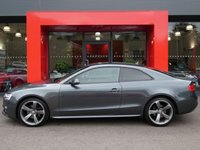 USED 2014 14 AUDI A5 2.0 TDI QUATTRO S LINE BLACK EDITION 2d AUTO 177 S/S UPGRADE PARKING SYSTEM ADVANCED WITH FRONT & REAR SENSORS WITH DISPLAY & REAR VIEW CAMERA, UPGRADE INTERIOR LIGHT PACK, UPGRADE ELECTRIC FOLDING HEATED DOOR MIRRORS, MMI NAVIGATION PLUS, HEATED FRONT SEATS, FULL BLACK LEATHER, BANG & OLUFSEN SOUND SYSTEM, CRUISE CONTROL, AUDI MUSIC INTERFACE (AMI), DVD PLAYER, VOICE DIALOGUE SYSTEM, PRIVACY GLASS, DAB RADIO, BLUETOOTH PHONE & MUSIC STREAMING, WIRELESS LAN CONNECTION (WLAN), QUATTRO 4 WHEEL DRIVE, LED XENON LIGHTS,  19 INCH ROTOR ALLOYS, 1 OWNER