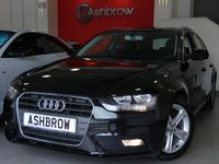 USED 2015 15 AUDI A4 AVANT 2.0 TDI ULTRA SE TECHNIK 5d 163 S/S HDD SAT NAV WITH JUKEBOX & DVD PLAYBACK, FULL BLACK LEATHER, DAB RADIO, WIRELESS LAN CONNECTION (WLAN), BLUETOOTH MOBILE PHONE PREP WITH MUSIC STREAMING, AUDI MUSIC INTERFACE FOR IPOD / USB DEVICES (AMI), FRONT & REAR PARKING SENSORS WITH DISPLAY, CRUISE CONTROL, ELECTRIC TAILGATE, LEATHER MULTI FUNCTION STEERING WHEEL, LIGHT & RAIN SENSORS, CLIMATE CONTROL,  1 OWNER FROM NEW, FULL AUDI SERVICE HISTORY, £30 ROAD TAX (114 G/KM), VAT Q