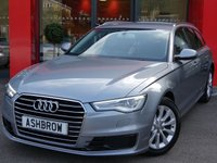 USED 2015 15 AUDI A6 AVANT 2.0 TDI ULTRA SE 5d AUTO 190 S/S UPGRADE HEATED FRONT SEATS, UPGRADE 4 WAY LUMBAR SUPPORT, SAT NAV, LED DAYTIME RUNNING LIGHTS, BI-XENON HEADLIGHTS, DAB RADIO, BLUETOOTH PHONE & MUSIC STREAMING, FRONT & REAR PARKING SENSORS WITH DISPLAY, FULL BLACK LEATHER INTERIOR, ELECTRIC TAILGATE, LIGHT & RAIN SENSORS WITH AUTO DIMMING REAR VIEW MIRROR, CRUISE CONTROL, AUTO HILL HOLD, 4 ZONE CLIMATE AIR CON, AUDI MUSIC INTERFACE (AMI), 1 OWNER FROM NEW, FULL SERVICE HISTORY, £30 ROAD TAX