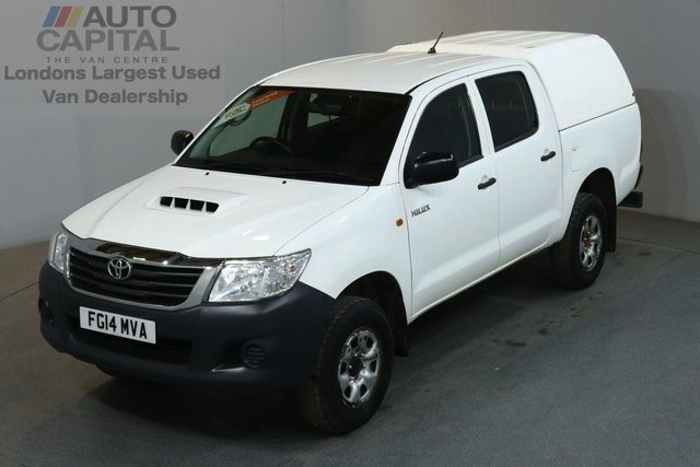2014 14 TOYOTA HI-LUX 2.5 ACTIVE 4X4 D-4D DCB 4d 142 BHP MWB AIR CON PICK UP £8,750 PLUS VAT FULL S/H