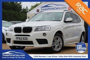 2013 BMW X3 2.0 XDRIVE20D M SPORT 5d AUTO 181 BHP £17450.00