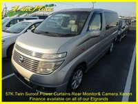 2003 NISSAN ELGRAND Nissan Elgrand XL3.5 Auto 8 Seats Twin Suroofs,Power Curtains £7000.00