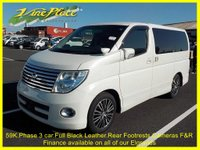 USED 2007 57 NISSAN ELGRAND Nissan Elgrand Highway Star Black Leather Edition 8 seats +59K+PHASE 3 BLACK LEATHER ED+