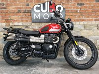 USED 2017 17 TRIUMPH STREET SCRAMBLER ABS ONLY 692 MILES  1 OWNER FROM NEW