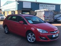 2015 VAUXHALL ASTRA 2.0 SRI CDTI ESTATE AUTO  RED POWER RED Ex Motability163 BHP £7995.00