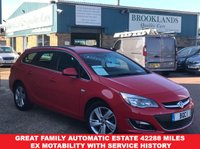 USED 2015 15 VAUXHALL ASTRA 2.0 SRI CDTI ESTATE AUTO  RED POWER RED Ex Motability163 BHP Great Family Automatic Estate 42288 MILES Ex Motability with Service History