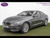 USED 2015 15 BMW 4 SERIES 2.0 420d Luxury xDrive 2dr SAT NAV, BLACK LEATHER, DAB