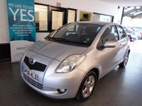 USED 2006 06 TOYOTA YARIS 1.3 T SPIRIT VVT-I 3d 86 BHP This Yaris is finished in Metallic Silver streak with Grey cloth seats. It is fitted with air conditioning/ climate control (which is cold),  remote central locking, alloys,  power steering, electric front windows, remote mirrors, CD Stereo and more. It has had only three private owners from new, the last two the same family,  and comes with some service history. Last serviced march 2017 at 43479 miles. The current Mot runs till July 2019. We are selling this Yaris with a service and warranty.