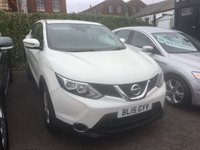 USED 2015 15 NISSAN QASHQAI 1.5 DCI ACENTA SMART VISION 5d 108 BHP A stunning example of this highly sought after family diesel crossover finished in arguably the best colour of metalic white this car looks and drives superbly .it comes with the smart vision pack ,lane assist ,street sign recognition ,,cruise control/speed limiter, xenon headlamps ,dual zone climate control , dab radio cd with mps usb and aux imputs,tyre pressure monitor ,park assist plus all the usual refinements .This car returns a very impressive combined ecconomy of 74.5 mpg,free road tax