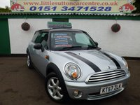 2007 MINI HATCH ONE 1.4 ONE 3d 94 BHP £3999.00