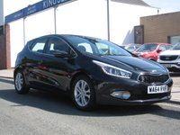 USED 2014 64 KIA CEED 1.6 2 ECODYNAMICS 5d 133 BHP Only one owner, Air conditioning, parking sensors, cruise control, Remote central locking, electric windows.