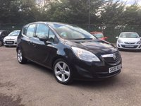 2010 VAUXHALL MERIVA 1.4 EXCLUSIV 5d  UPGRADE ALLOY WHEELS  £3000.00