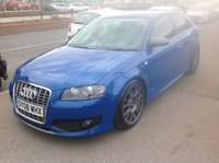 USED 2008 08 AUDI S3 2.0 TFSI QUATTRO 3d 262 BHP Stunning blue, bbs alloys, leather, and lots more, stunning.