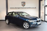 USED 2015 15 BMW 1 SERIES 1.5 116D SE 3DR AUTO 114 BHP + FULL CREAM LEATHER INTERIOR + FULL BMW SERVICE HISTORY + 1 OWNER FROM NEW + BLUETOOTH + SPORT SEATS + DAB RADIO + RAIN SENSORS + 16 INCH ALLOY WHEELS +
